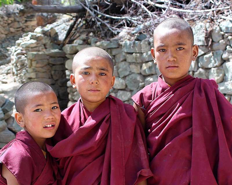 Young monastics