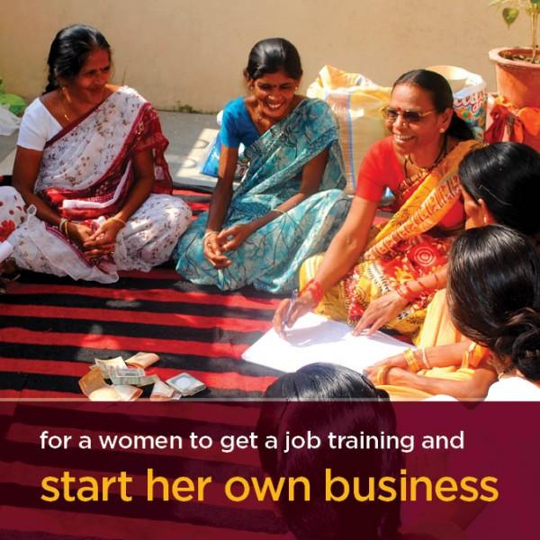 help a woman starts a busiess